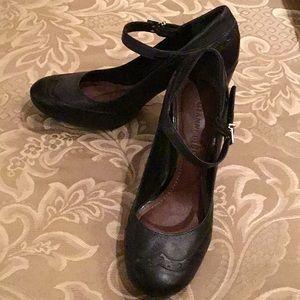 Black Spectator Heels